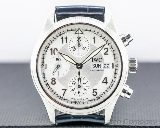 IWC 3706 Pilot Spitfire Chronograph SS Silver Dial