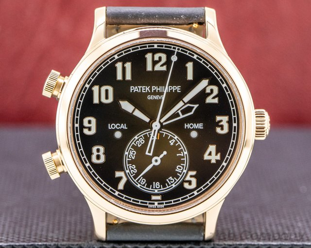 Patek Philippe 5524R-001 Calatrava 5524R Pilot Travel Time 18k Rose Gold