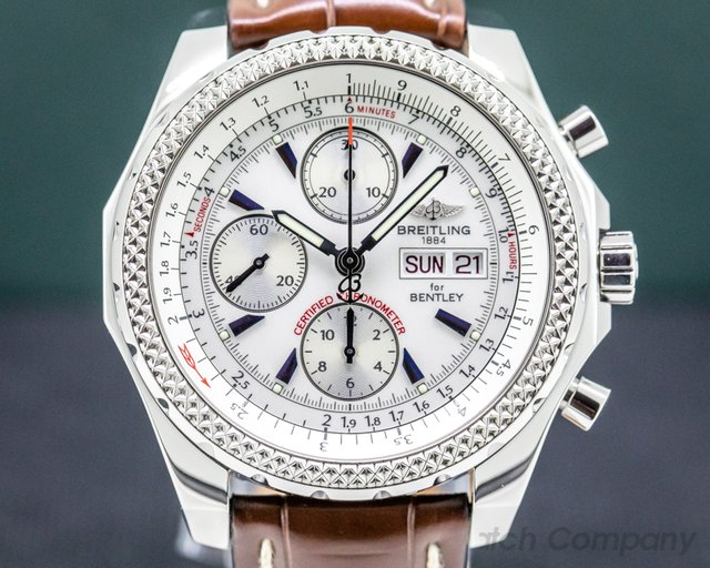 Breitling A13362 Bentley Motors GT Stainless / Leather 45MM