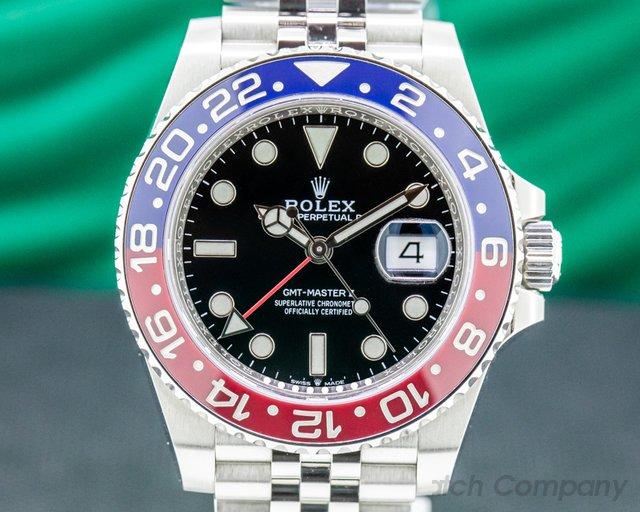 "Rolex 126710BLRO GMT Master II Ceramic 126710 ""Pepsi"" SS / Jubilee"