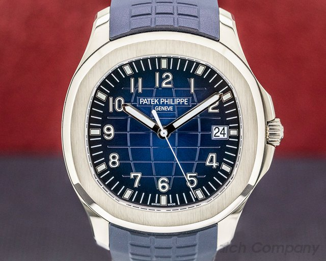 Patek Philippe 5168G-001 Aquanaut 5168G 18K White Gold / Blue Dial 2018