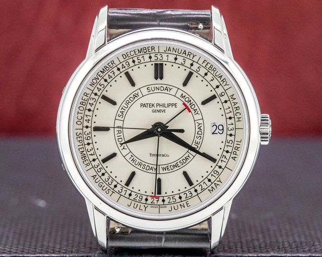 Patek Philippe 5212A-001 TIFFANY Calatrava 5212A TIFFANY & CO Weekly Calendar Stainless Steel RARE