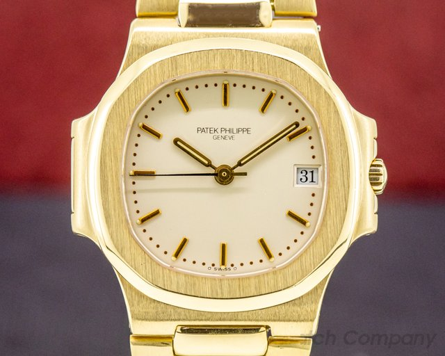 Patek Philippe 3800/1J-001 Nautilus 3800 18K Yellow Gold ORIGINAL CERT