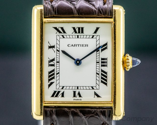 Cartier Tank Louis 1974 Tank Louis Manual Wind 18K Yellow Gold Circa 1974