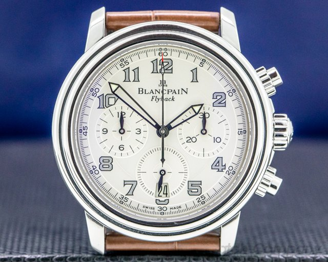 Blancpain 2185F-1142 Flyback Chronograph Silver Dial SS