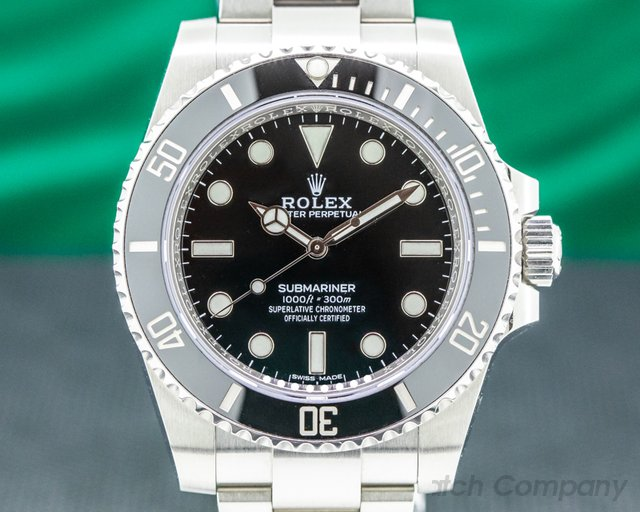 Rolex 114060 Submariner 114060 No Date Ceramic Bezel SS 2019