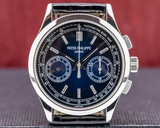 Patek Philippe 5170P-001 Chronograph Platinum 5170P Blue Diamond Dial FULL SET
