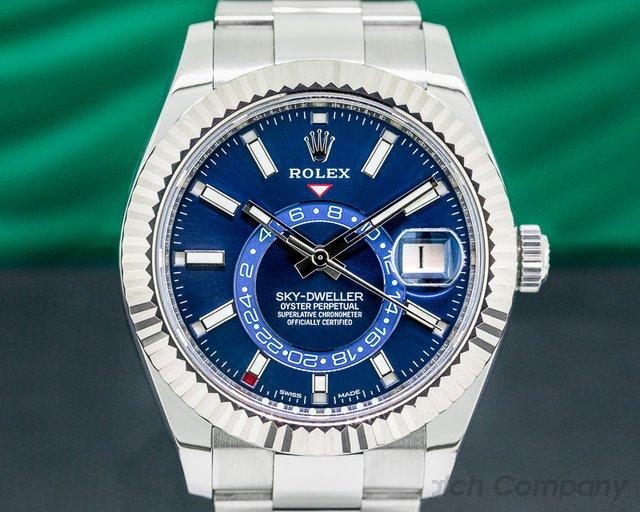 Rolex 326934 Sky Dweller 326934 Steel Blue SS / Bracelet