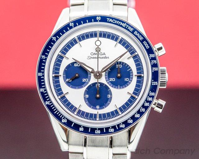 Omega 311.33.40.30.02.001 Speedmaster CK 2998 Silver / Blue Dial WITH BRACELET LIMITED