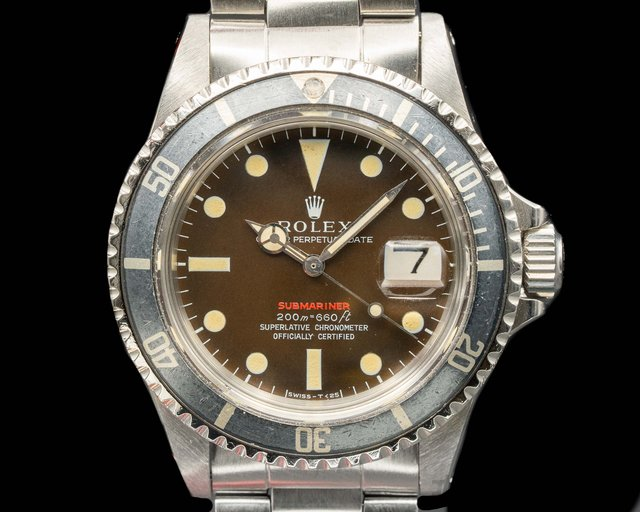 Rolex 1680 Submariner RED MK II Circa 1970 TROPICAL WOW
