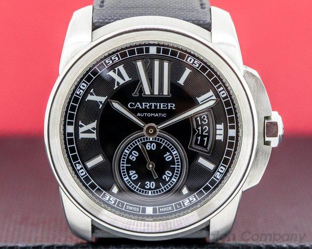 Cartier W7100041 Calibre de Cartier Black Dial SS / SS Deployant