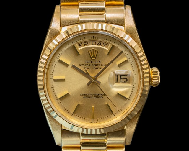 Rolex 1803 Oyster 1803 Perpetual Day Date 18K Yellow Gold