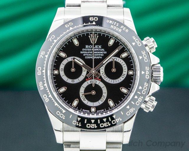 Rolex 116500LN Daytona 116500 Ceramic Bezel SS / Black Dial