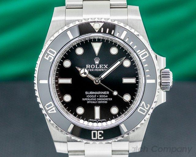 Rolex 114060 Submariner 114060 No Date Ceramic Bezel