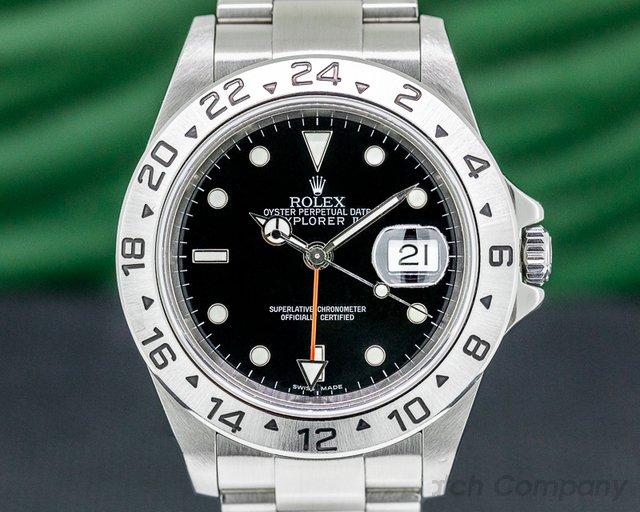 Rolex 16570 Explorer II 16570 SS Black Dial