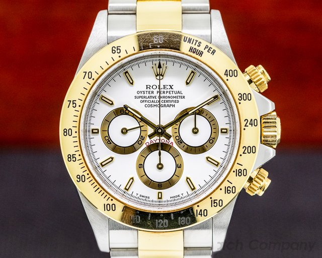 Rolex 16523 Zenith Daytona 16523 Cosmograph 18k / SS LIKE NEW FULL SET