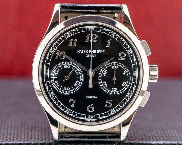 Patek Philippe 5170G-010 TIFFANY & CO Chronograph 5170G TIFFANY 18K White Gold Black Dial