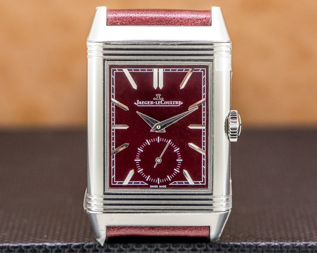 Jaeger LeCoultre Q397846 Reverso Tribute Small Seconds Burgundy 2020 UNWORN