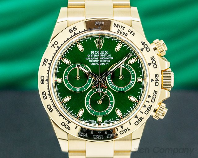 Rolex 116508 Daytona 116508 18k Yellow Gold / Green Dial UNWORN
