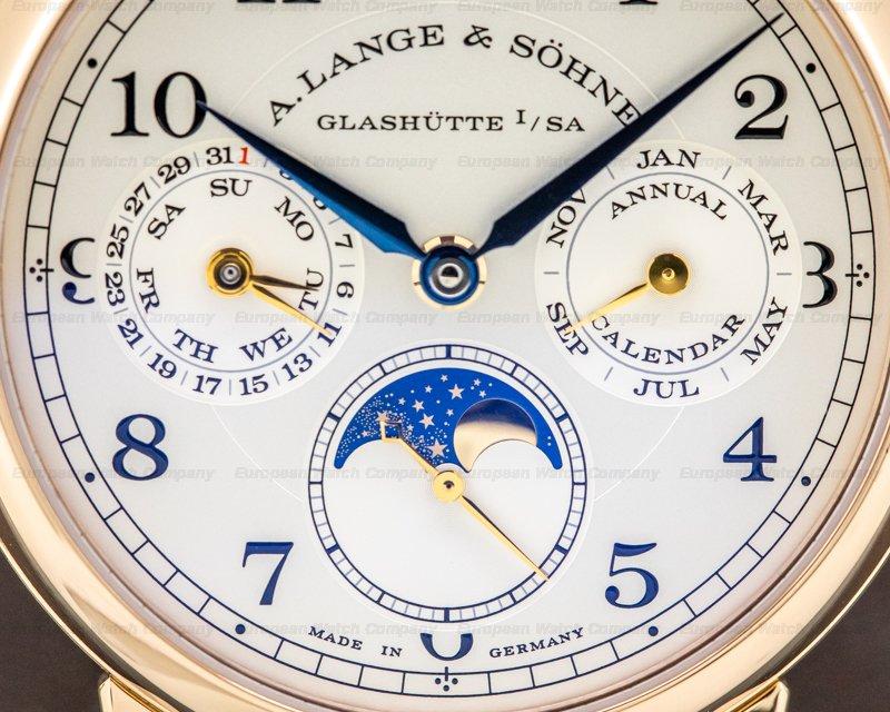 A. Lange and Sohne 238.032 1815 Annual Calendar 18k Rose Gold FULL SET