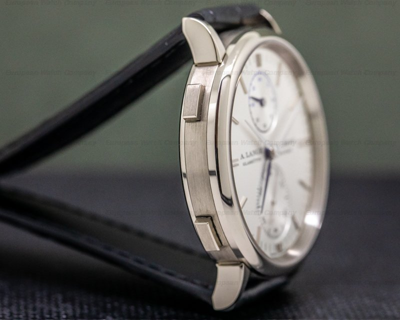 A. Lange and Sohne 385.026 Saxonia 385.026 Dual Time 18K White Gold