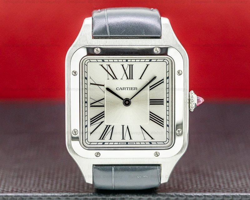"""Cartier WGSA0034 Santos-Dumont Limited Edition Platinum """"Le Bresil"""" UNWORN"""