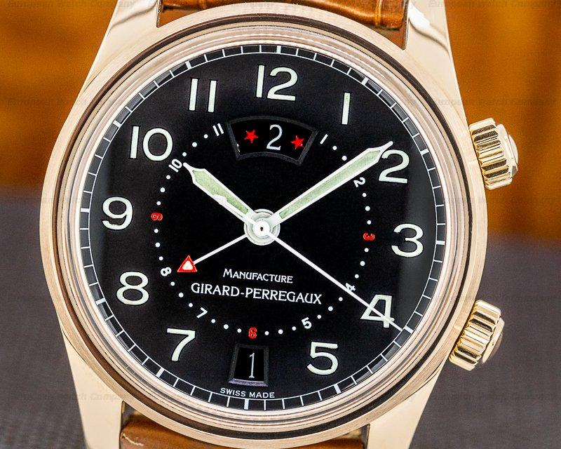 Girard Perregaux 4940 Traveller II Rose Gold Black Dial 38MM