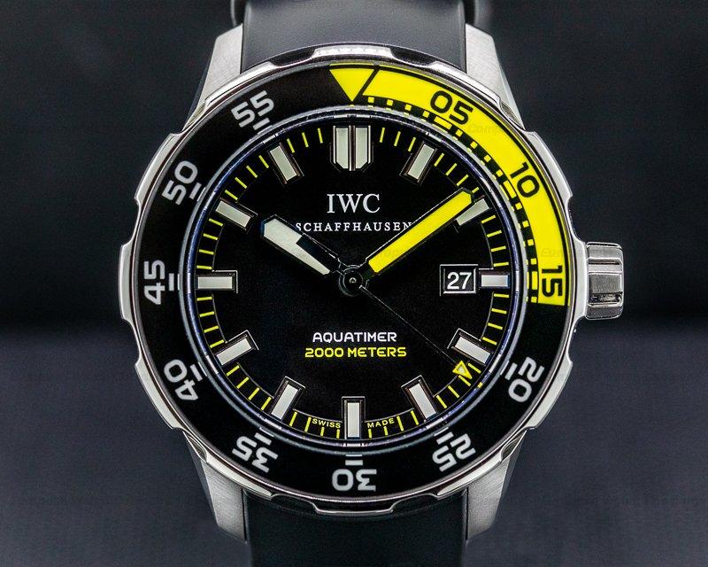 IWC Aquatimer 2000 Black Dial SS / Rubber Ref. IW356802