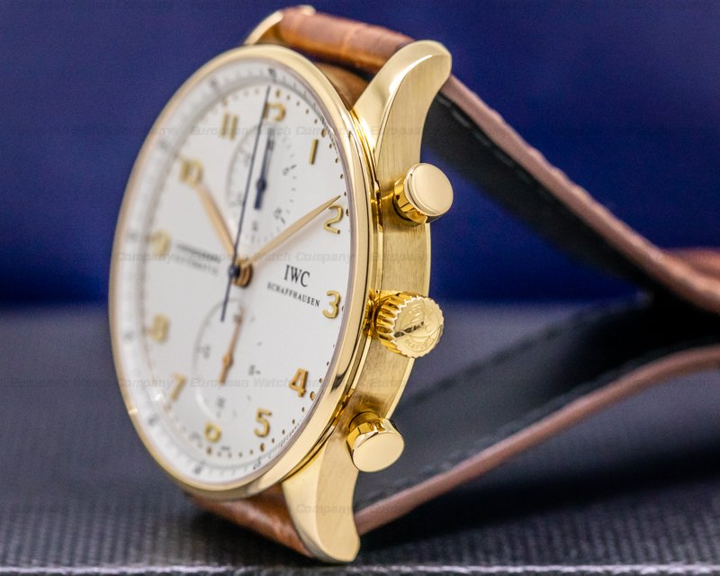 IWC IW371480 Portugieser Chronograph 18K Rose Gold / Silver Dial