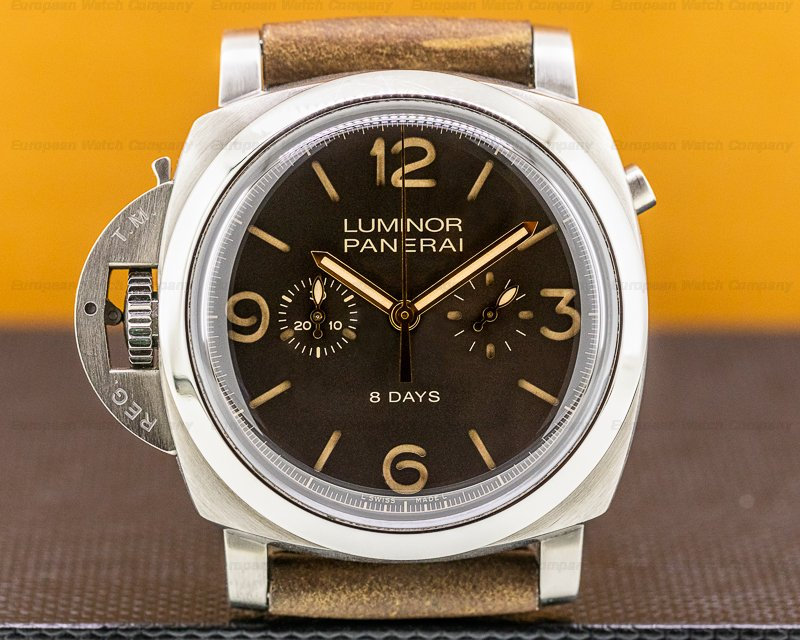 Panerai Luminor 1950 Chrono Monopulsante Destro 8 Days Titanium LIMITED Ref. PAM00579