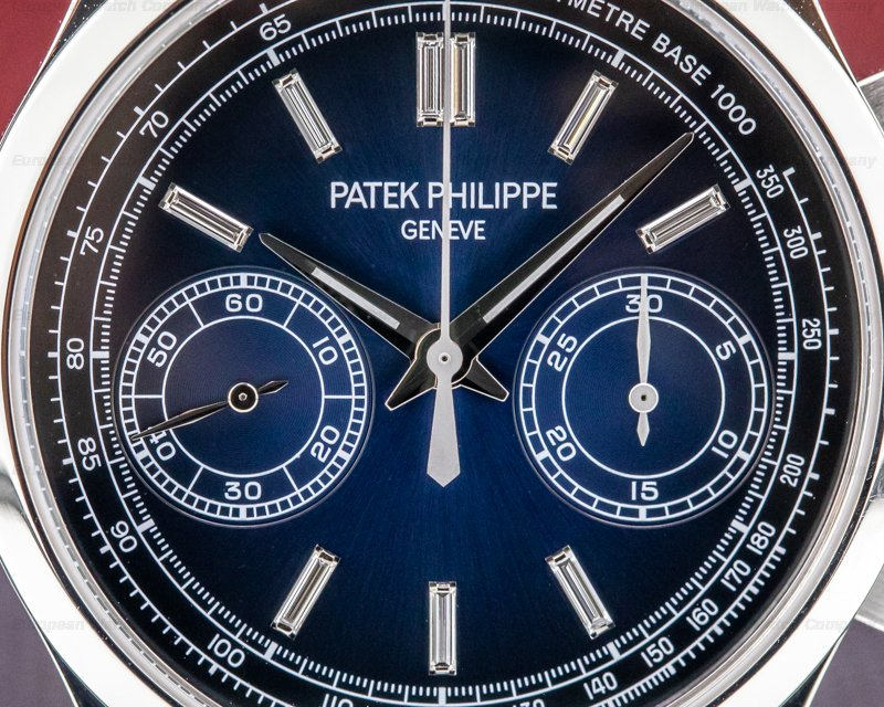 Patek Philippe 5170P-001 Chronograph Platinum 5170P Blue Diamond Dial FULL SET