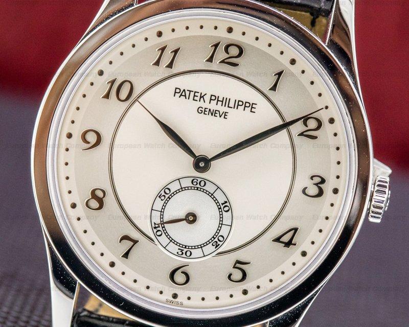 Patek Philippe 5196P-001 Calatrava Platinum 5196P Silver Dial Arabic Numerals