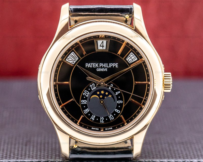 Patek Philippe 5205R-010 Annual Calendar 5205R Black Dial 18k Rose Gold