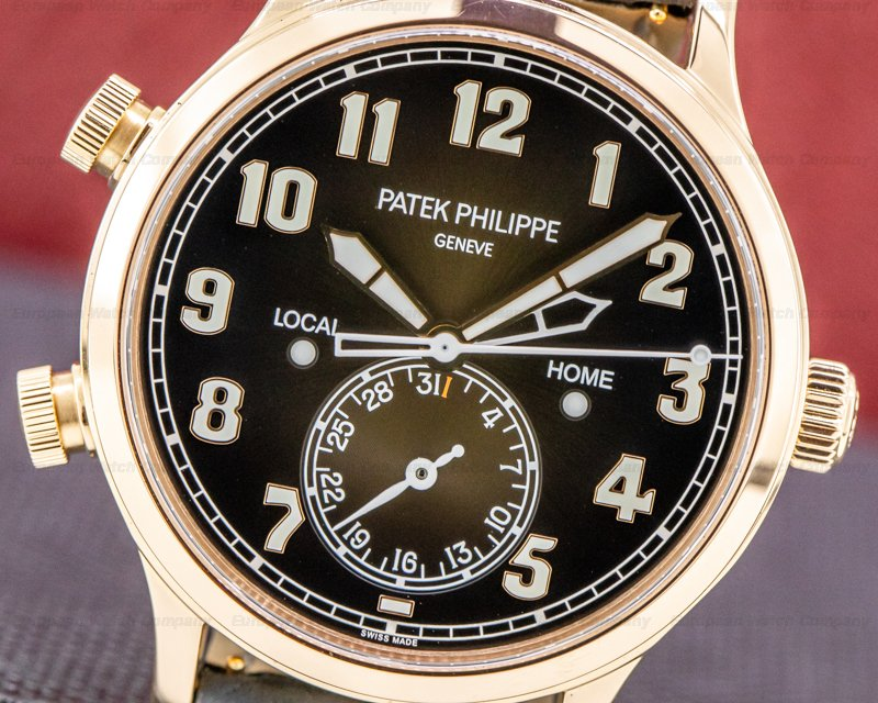 Patek Philippe 5524R-001 Calatrava 5524R Pilot Travel Time 18k Rose Gold