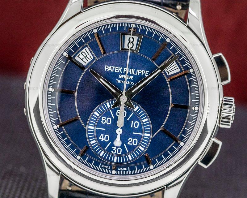 Patek Philippe 5905P-001 5905P Chronograph Annual Calendar Platinum / Blue Dial TIFFANY & CO
