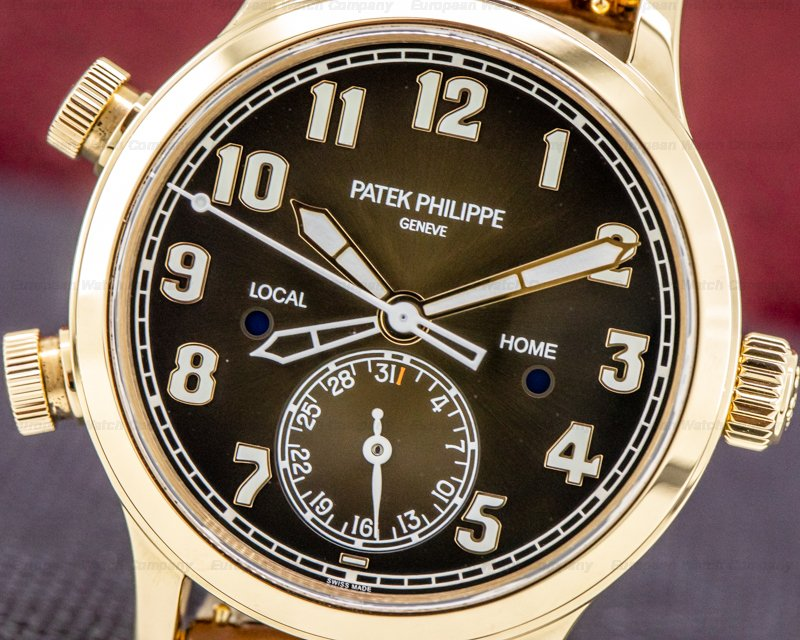 Patek Philippe 7234R-001 Mid Size 7234R Calatrava Pilot Travel Time 18k Rose Gold