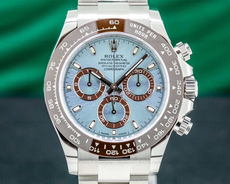 Rolex 116506 Daytona 116506 Platinum Glacier Blue / Brown Ceramic UNWORN 2020