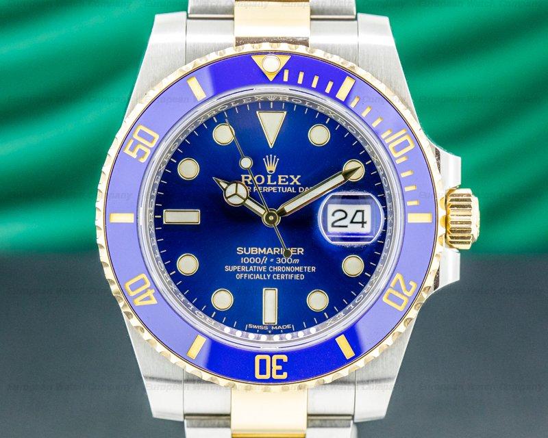 Rolex 116613LB Submariner 116613LB Ceramic Blue Dial 18K / SS