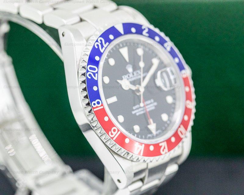 Rolex 16710B GMT Master II SS Red / Blue Pepsi Bezel