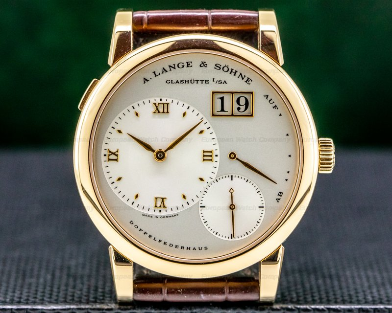 A. Lange and Sohne Lange 1 101.032 18K Rose Gold Silver Dial Ref. 101.032