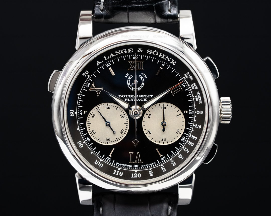 A. Lange and Sohne Double Split 404.035 Black Dial Platinum Ref. 404.035