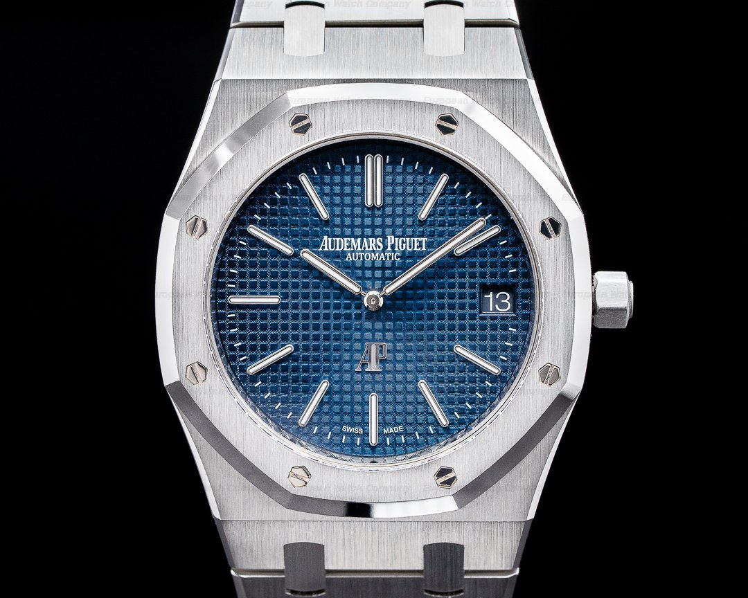 Audemars Piguet Royal Oak 15202ST Extra Thin Blue Dial SS FULL SET Ref. 15202ST.OO.1240ST.01