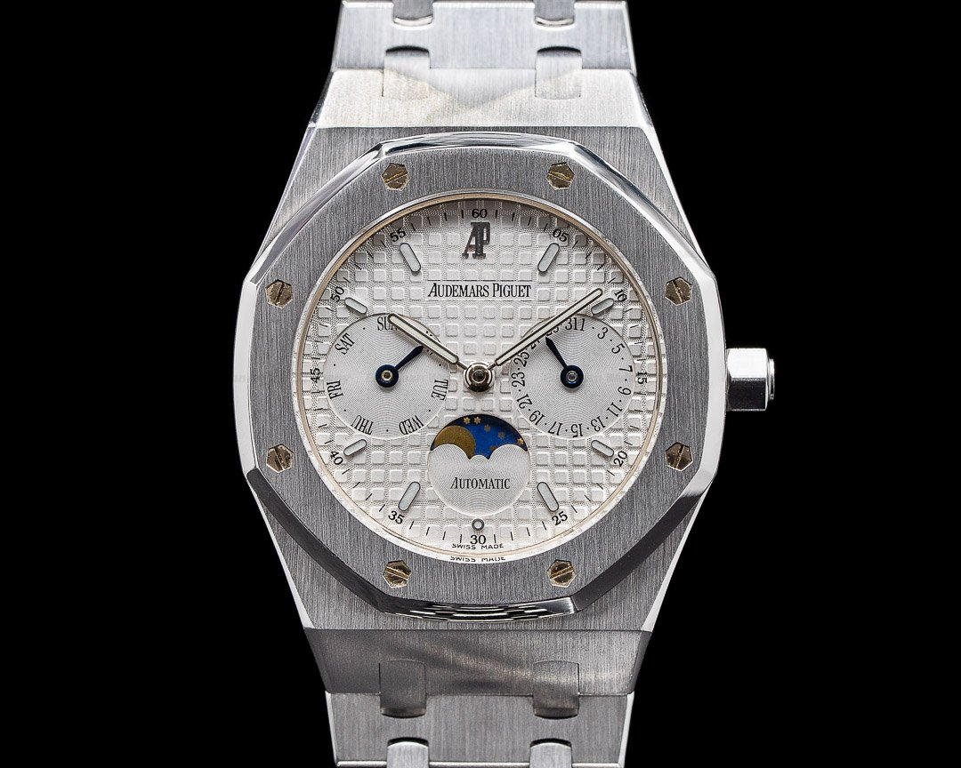 Audemars Piguet Royal Oak 25594ST Day Date Moon White Dial SS Ref. 25594ST.OO.0789ST.04
