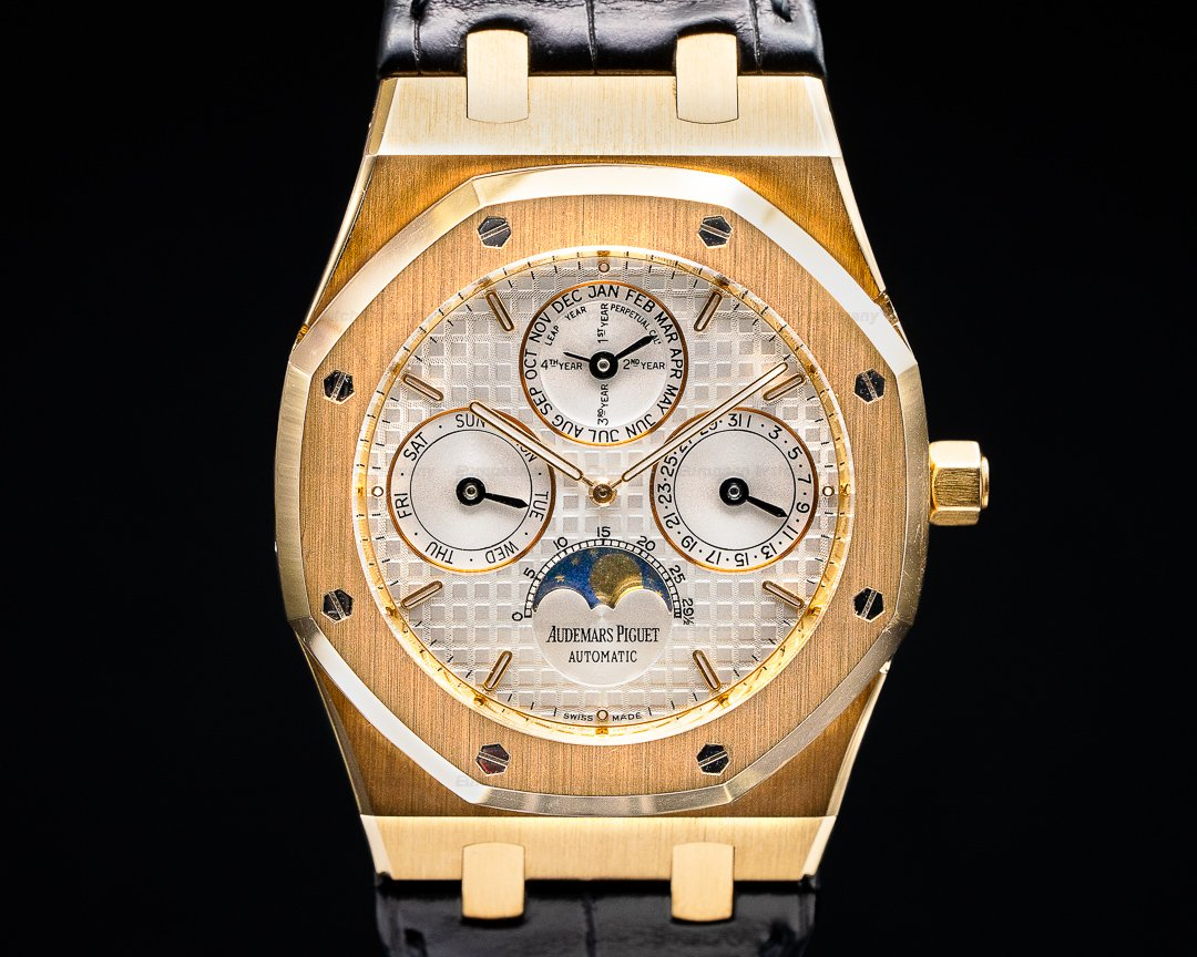 Audemars Piguet Royal Oak 26252OR Perpetual Calendar Rose Gold White Dial NICE Ref. 26252OR.OOD092CR.02