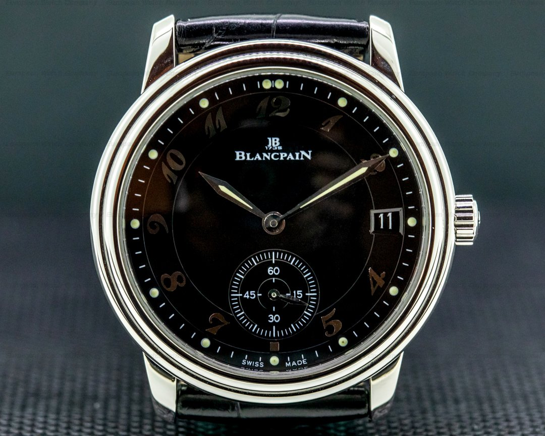 Blancpain Ultra Thin Automatic 100 Hour Black Arabic Dial NICE Ref. 1161-1130-55