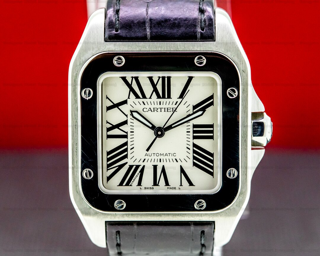 Cartier Santos 100 SS Mid-Size Automatic Ref. W20107X8