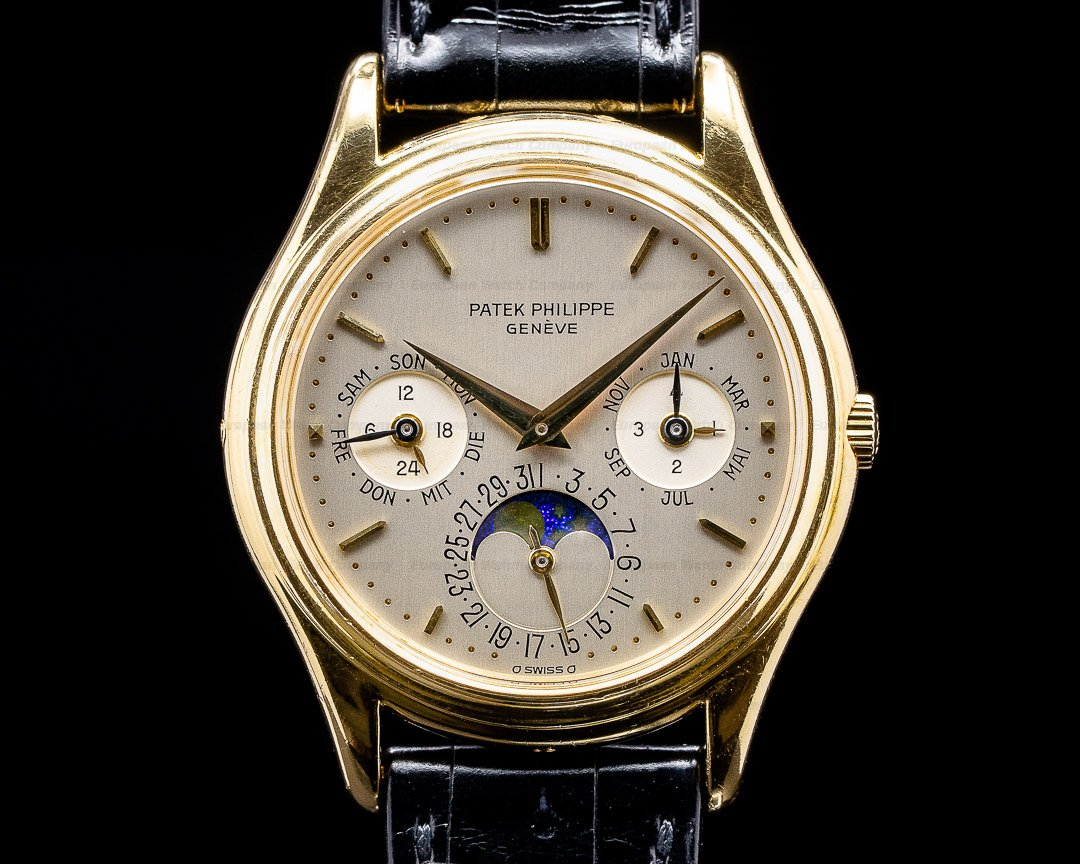 Patek Philippe Perpetual Calendar 3940 1st Series 18k Yellow Gold RARE FULL SET Ref. 3940 FIRST SERIES