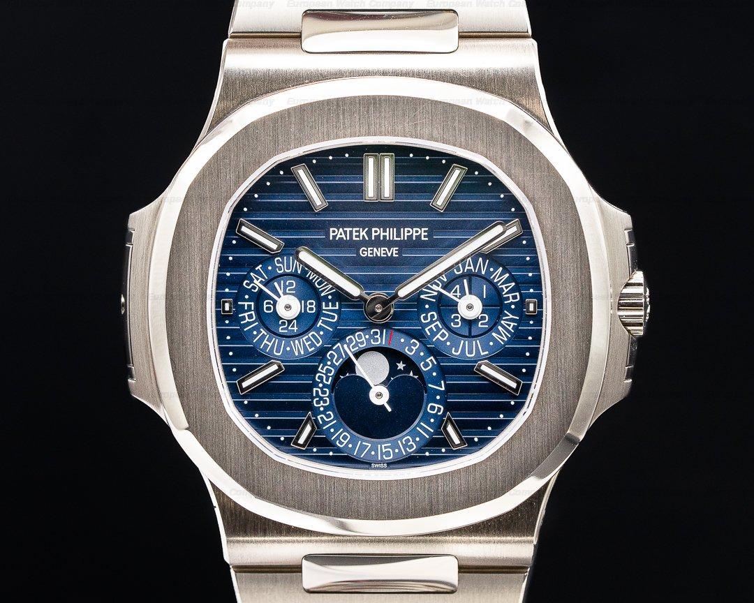 Patek Philippe Nautilus 5740 Perpetual Calendar 18k White Gold Blue Dial Ref. 5740/1G-001