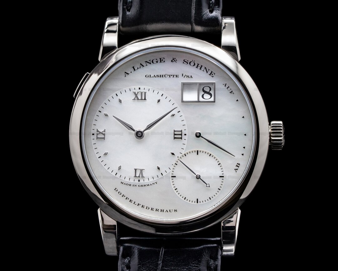 A. Lange and Sohne Lange 1 110.029 White Gold Mother of Pearl Dial Ref. 110.029