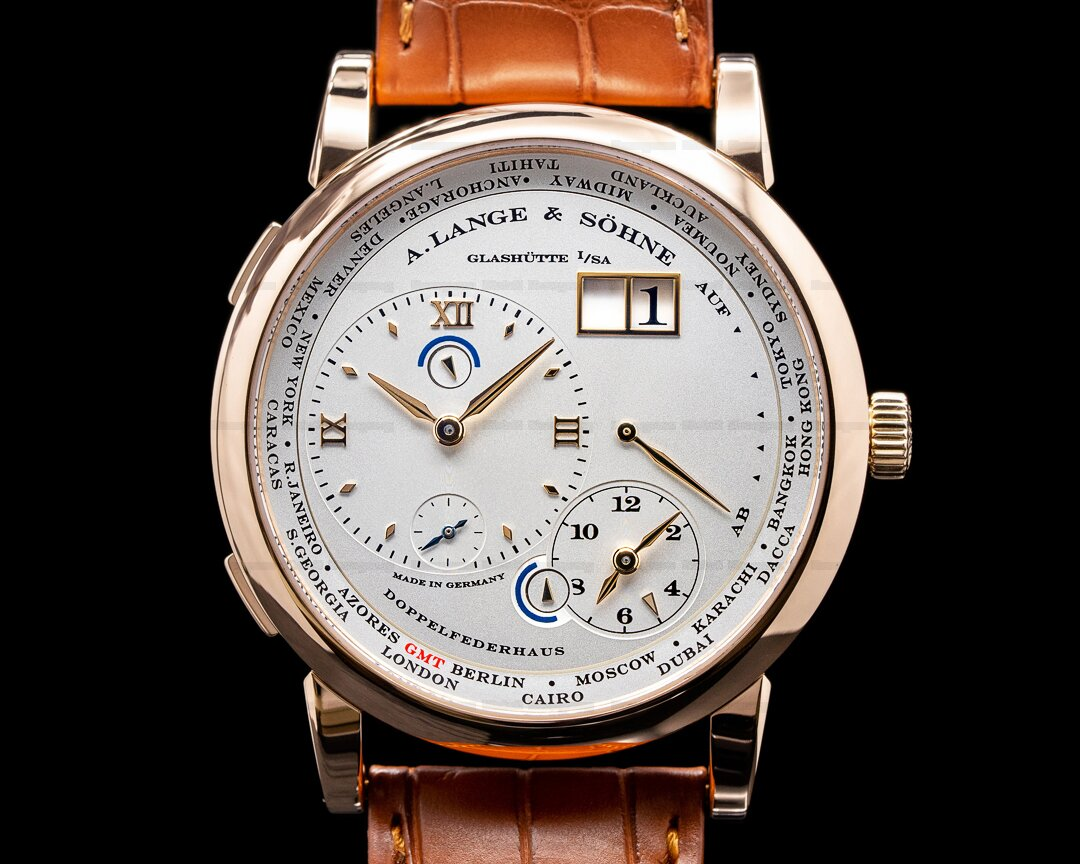 A. Lange and Sohne Lange 1 116.032 Time Zone 18K Rose Gold Ref. 116.032